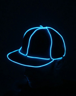 Light Up Snapback Hat - Aqua